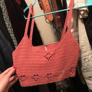 free people croche crop